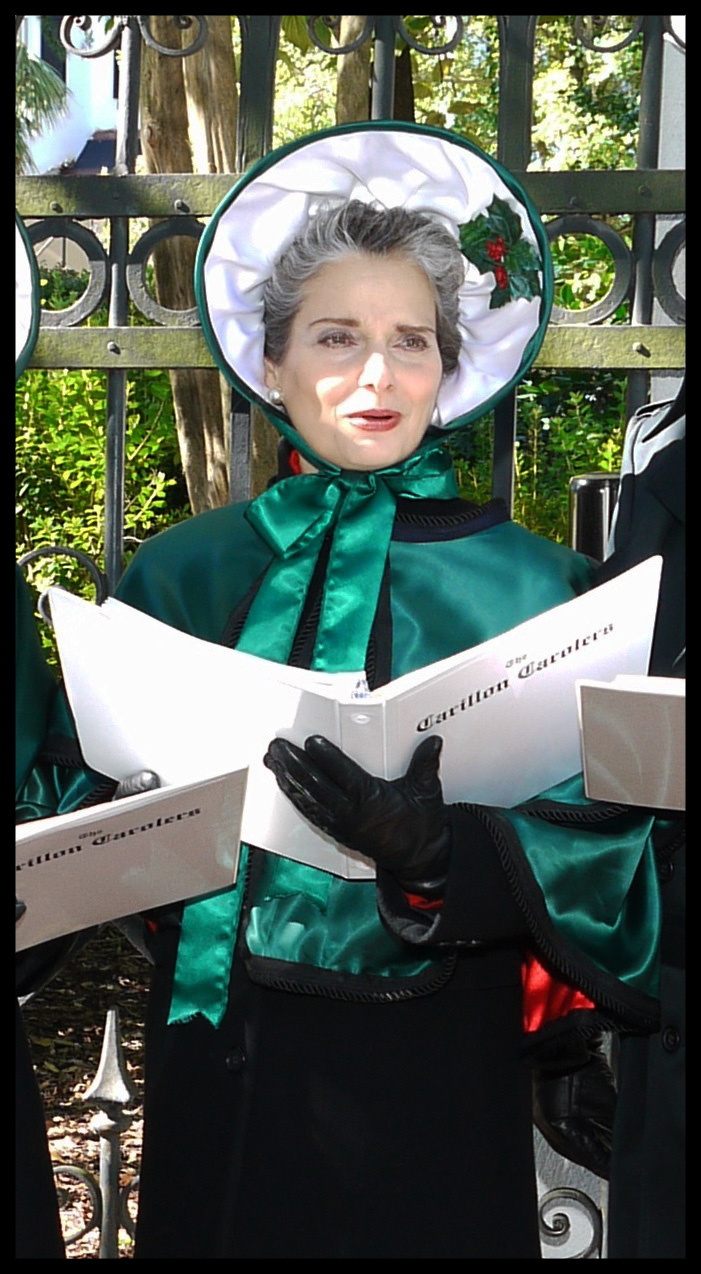 The Carillon Carolers entertaining at the South Carolina Governor's Mansion: Rosanne McDowell, alto                         Photo by Bob Carroll